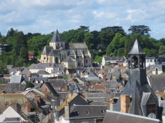 Rooftops viewed from the Chateau d'Amboise