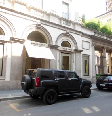 Hummer outside Armani
