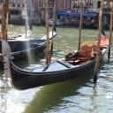 Gondola moored near the hotel