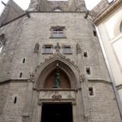 The entrance of Santa Maria del Mar