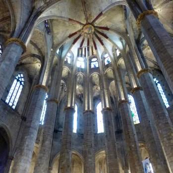 The ceiling of Santa Maria del Mar