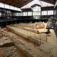 Roman ruins being preserved and excavated in El Born