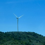 Wind turbine- we saw a few