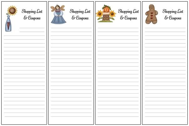 New Shopping List Envelopes Added Sheri Graham Helping