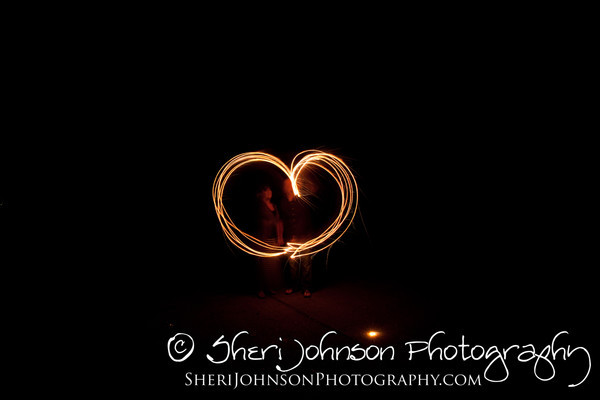 playing with sparklers in the dark