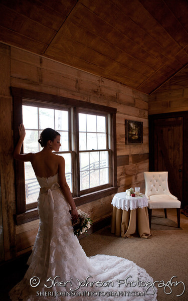Bridal Portrait in the bridal suite at The Reid Barn in Cumming, GA