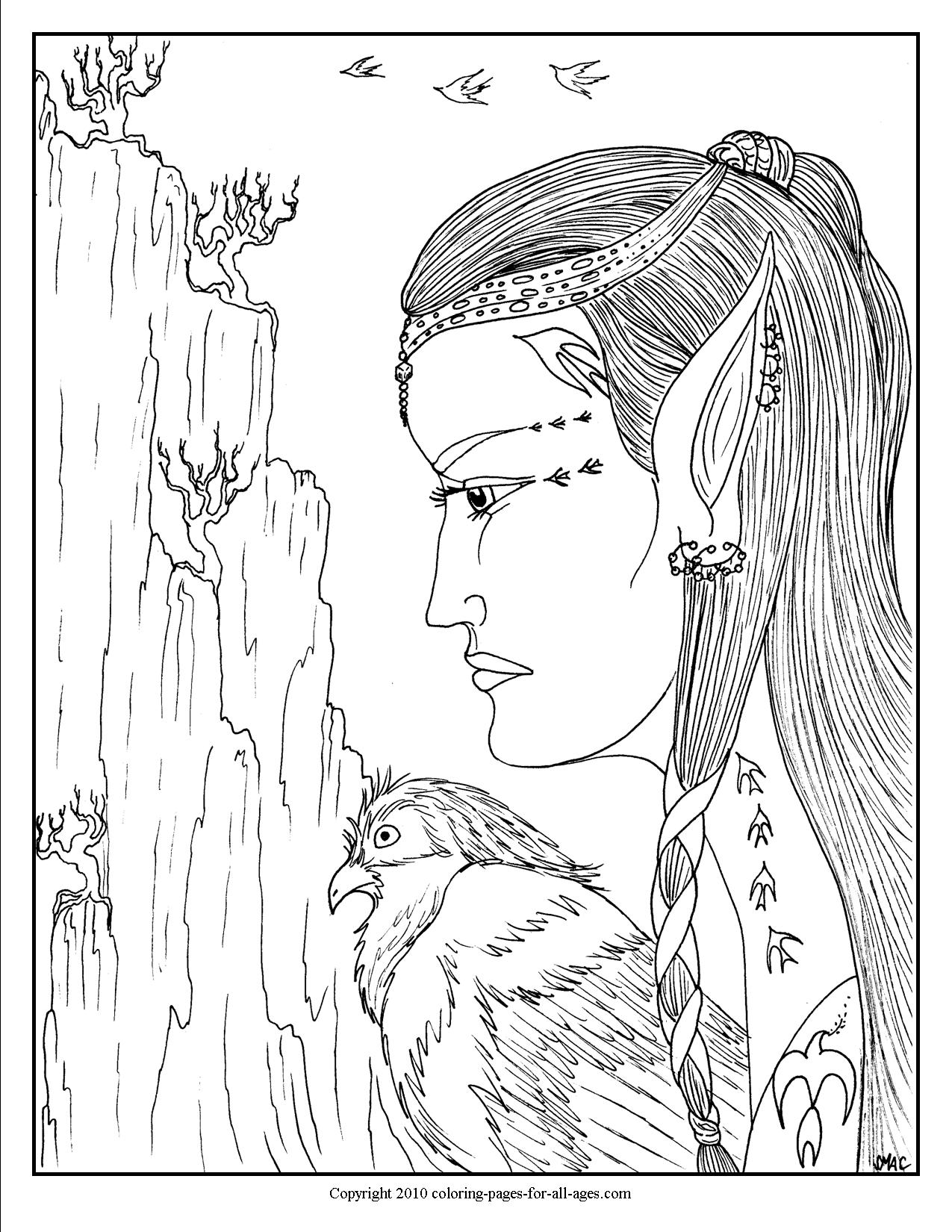 Fantasy Coloring Pages – S.Mac\'s Place to Be