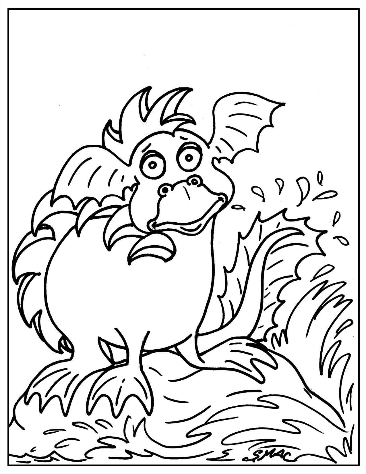 Dragon Art Coloring Pages