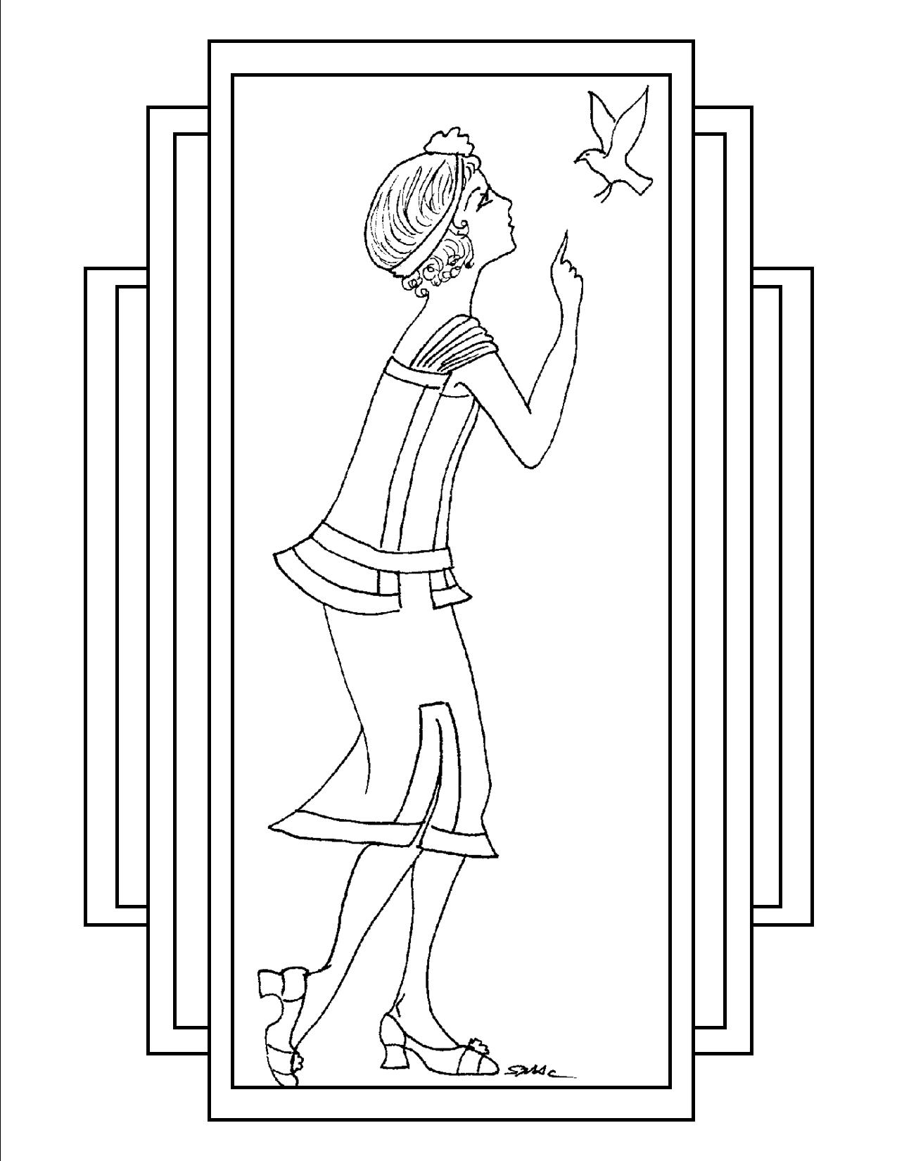 Art Deco Coloring Pages | S.Mac\'s Place to Be