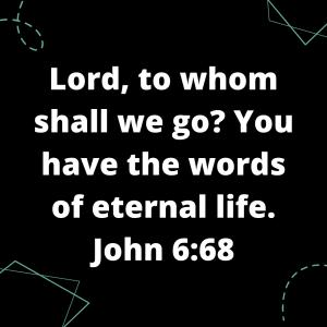 John 6:68