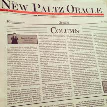 A column from last semester that I wrote for The Oracle.