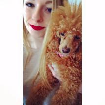 Selfie of my dog & I.