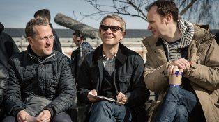 Mark Gatiss envies Martin's snazzy shades