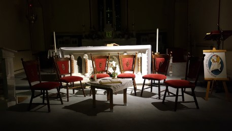 "Chairs in the ""Upper Room"", Mass of The Lord's Supper, Kilmovee"