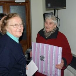 Something for you - Mary Corcoran makes presentation on behalf of St. Aiden's Church Choir