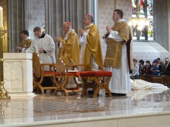 Led in prayer by Cardinal Brady, Archbishop Charles Brown (Papal Nuncio) and Bishop Gerard Clifford (Auxiliary Bishop Emeritus of Armagh)