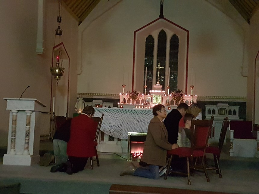 """""""On bended knee, their rosary is told"""" (R Farrelly, Isle of Inisfree)"""