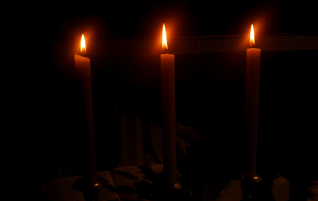 Three Candles Inside Kilmovee, Mayo.