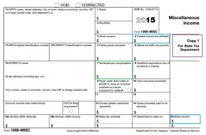 Copy of 1099-MISC for State Tax Department