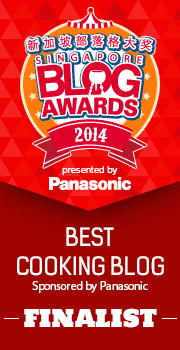 Singapore Blog Awards – Best Cooking Blog Finalist