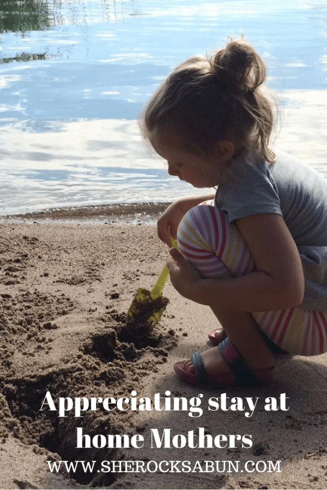 Being a stay at home mother is a tough job, and it is not for everyone. It's rough and demanding and all too often receives very little thanks. #sherocksabun #stayathome #sahm #motherhood #parenting #appreciation #workingmom
