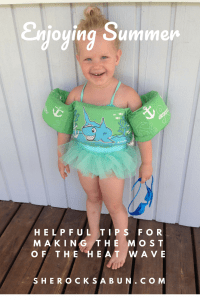 Enjoying the heat wave with kids is easy with these simple tricks! #summer #familyfun #parenting #motherhood #swimming