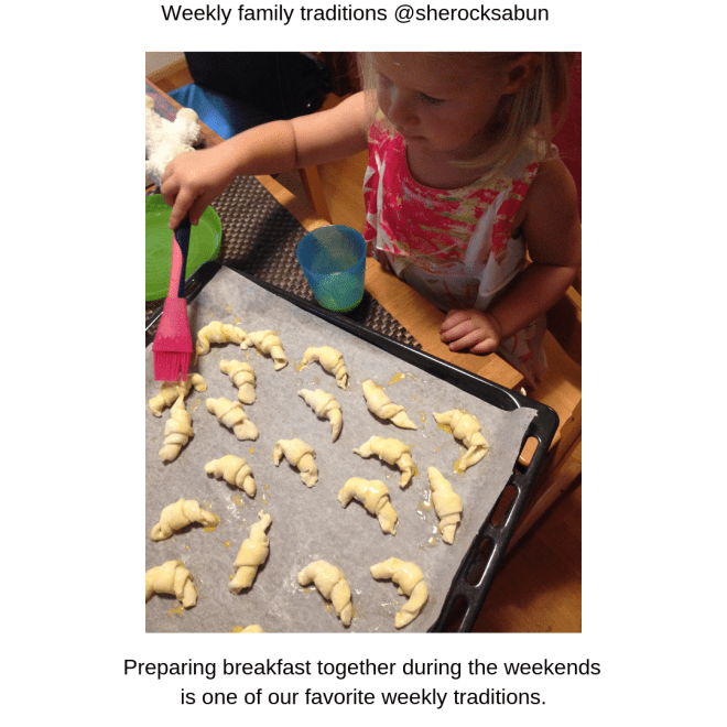 Weekly family traditions are an important part of creating happy childhood memories.