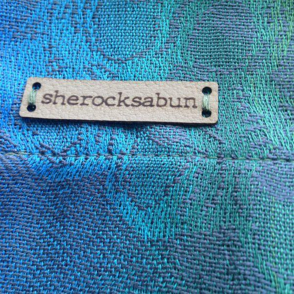 sherocksabun Thai Pashmina infinity scarf with zippered pocket, sherocksabun label