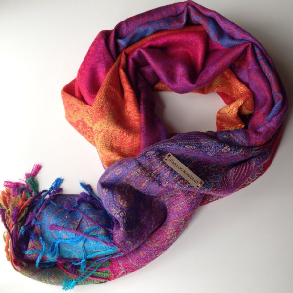 Color me happy pocket scarf by sherocksabun