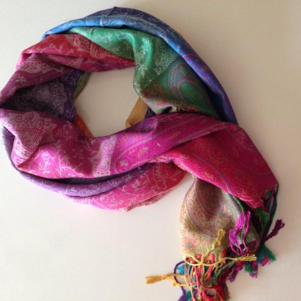 Color me happy silver pocket scarf