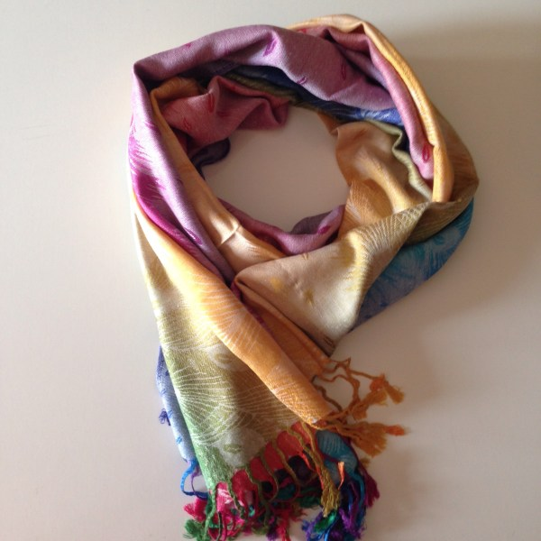 Tropical peacock light pocket scarf by sherocksabun