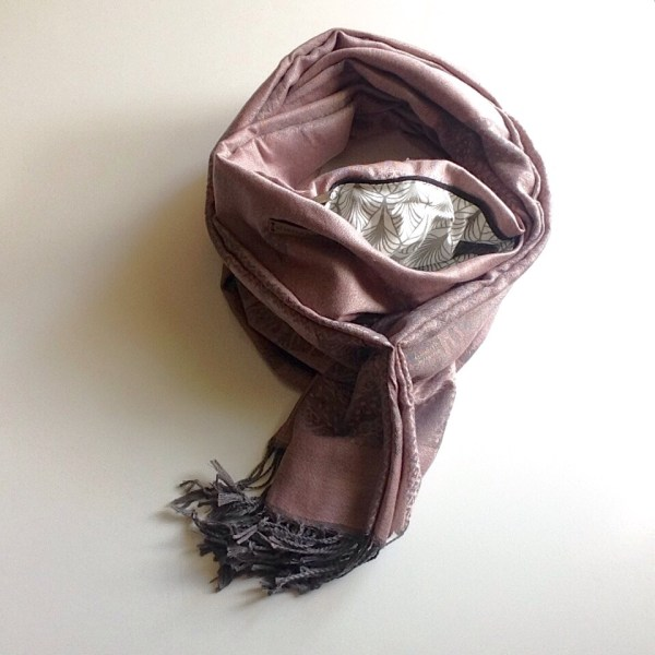 Old rose grey elephant pocket scarf by sherocksabun