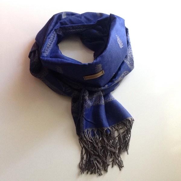 Blue grey elephant pocket scarf by sherocksabun