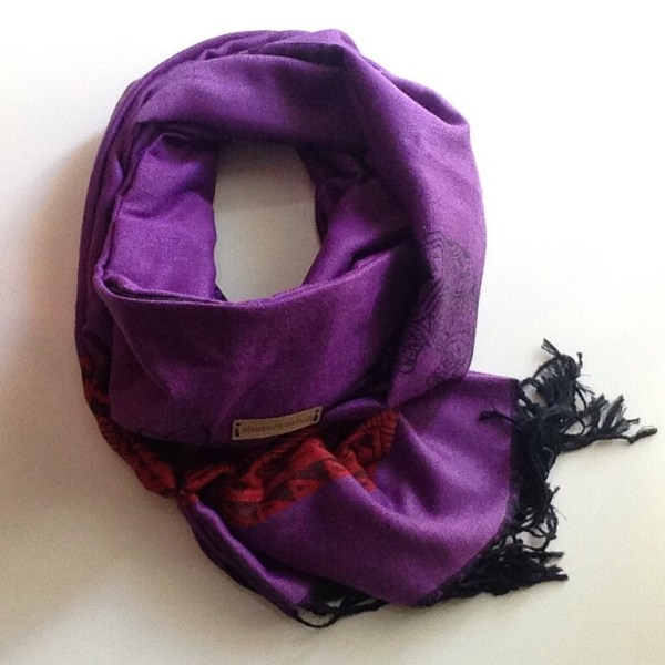 Purple red elephant pocket scarf by sherocksabun