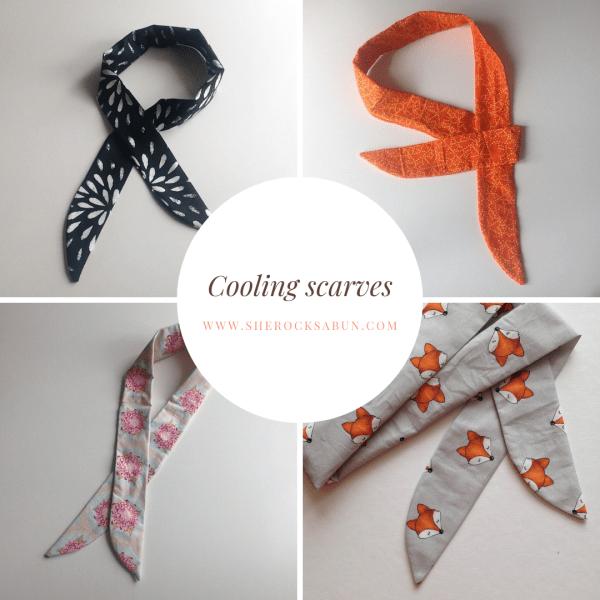 Cooling scarves - Viilentävät huivit - Kylande scarfar