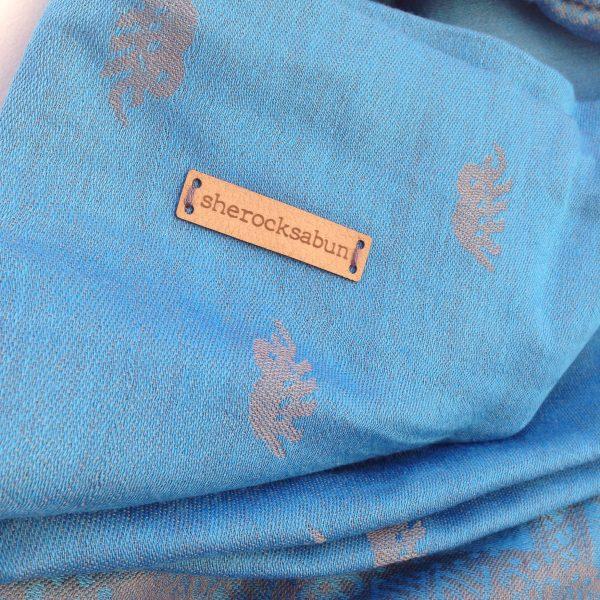 Light blue pocket scarf by sherocksabun
