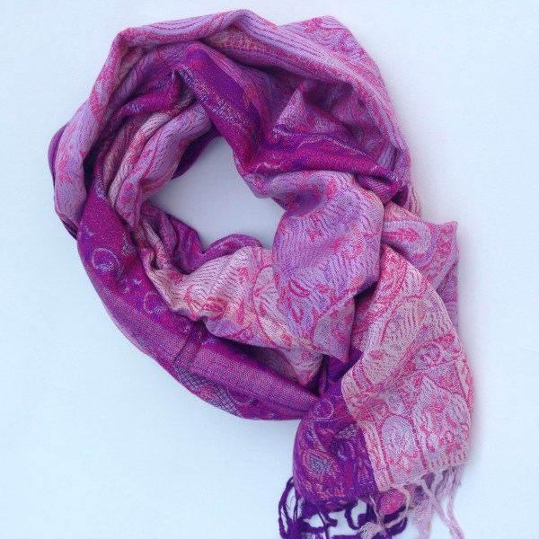 Purple swirls pocket scarf by sherocksabun