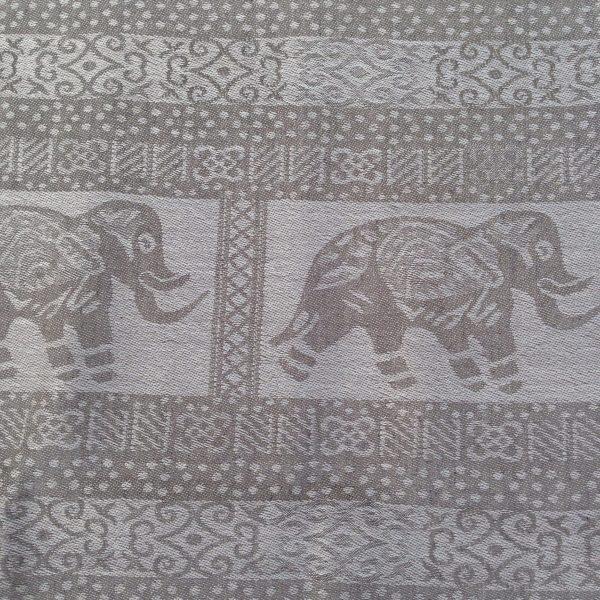 Light grey elephant print