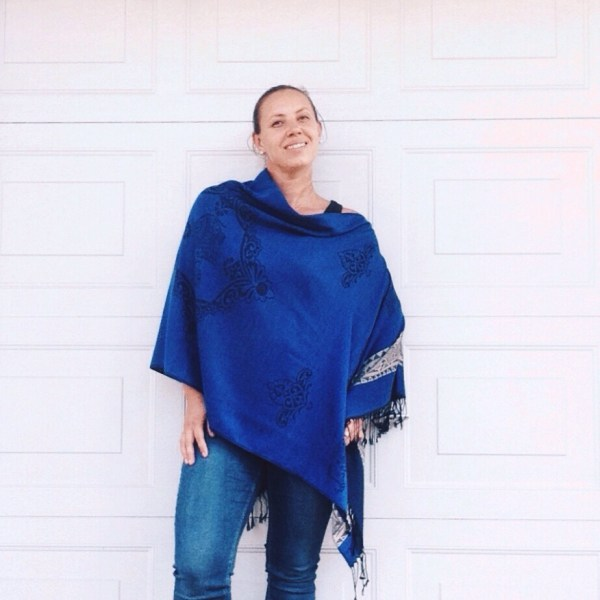 Dark blue oversized poncho by sherocksabun