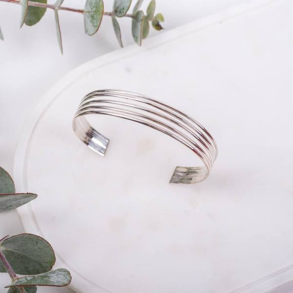 Item # 002Sterling Silver Bangle - openAUD $59.95