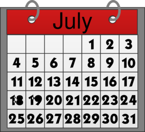 Busy Times July Calendar by Mec @ Clker.com