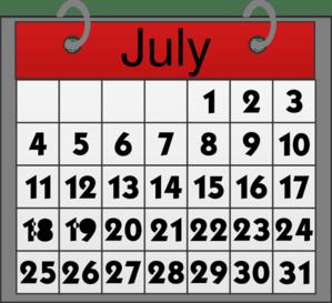 Busy Times July Calendar by Mec @ Clker.com