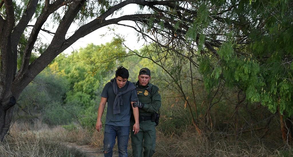 US - Mexico Border at McAllen TX
