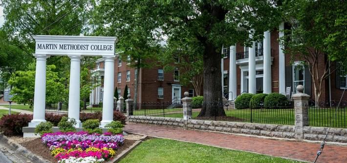 Martin Methodist College, campus, flowers