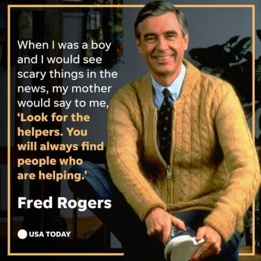 Mr. Rogers, Fred Rogers, helpers, frontline in pandemic, remember
