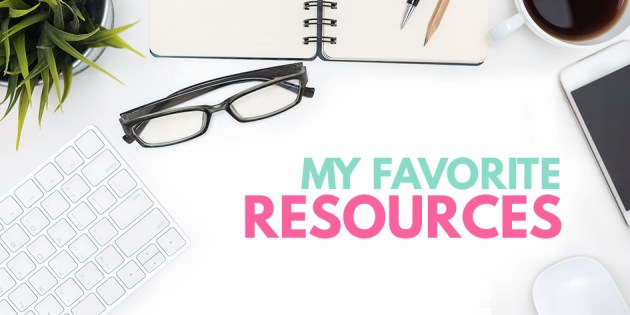 a list of my favorite marketing resources