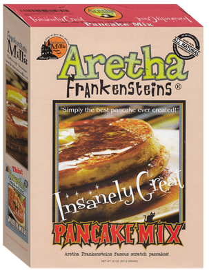Aretha Frankensteins Insanely Great Pancake Mix photo of box front