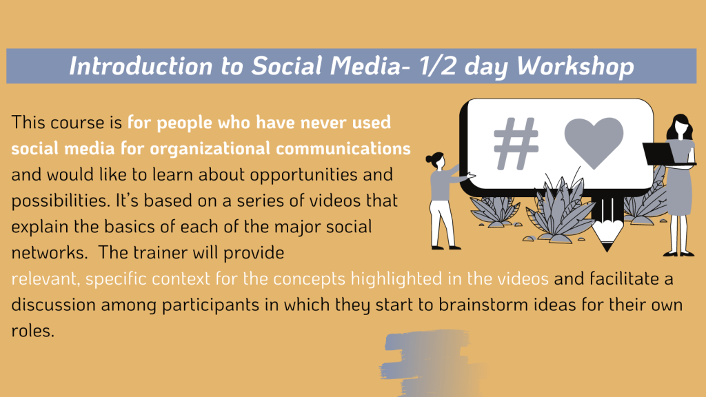 Introduction to Social Media Workshop