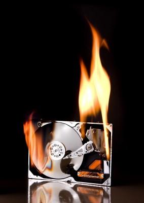 hard drive melt down