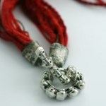 """Detail of """"Souls Medal of Honor"""" clasp. Fine silver filigree. Hand formed."""